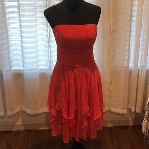 Strapless short gown